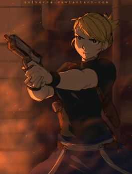 FMA Brotherhood: Riza Hawkeye by SolKorra