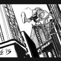 Spider-Man in a hurry. by EdGreerDestroys