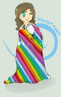 Rainbow Bed Sheets by MellenAgen