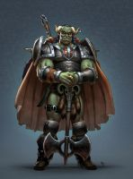 Orc Commander by Webcomicfan