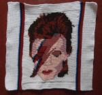 David Bowie cushion front by Schleichgirl1976