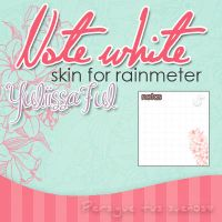 Skin Note White for rainmeter by ItsYuli