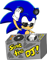 Sonic the DJ by sonamytwist