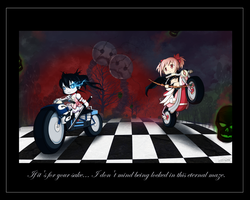 BRS and Madoka Cross Over by PenguinAttackStudios