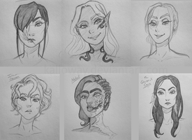 Character Sketches by Kalloway