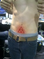 triforce scarification by Anklebones