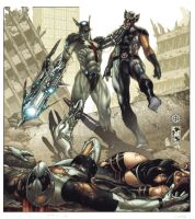 Fear itself:xforce2 cover B W by simonebianchi
