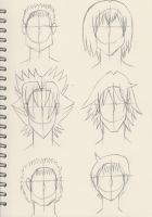 Final Major Project Character Hairstyles 2 by HachimakiX23