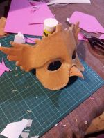 Owl masquerade Mask WIP 2 by firedrack