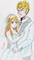 Fairy Tail Lucy X Laxus by Joakoart25