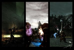 Dragon Age tryptic by Margenal