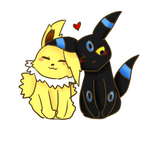 umbreon shiny y jolteon by Neko-Hikarin