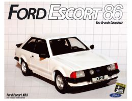 Ford Escort 86 poster by Evannrpg