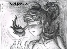Fast Draw of Korra (10 minutes) by SolKorra