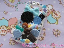 Blue Sweet Decoden Phone Case by Frainy