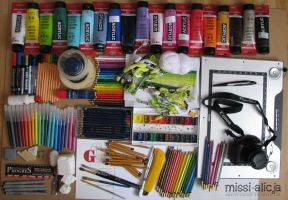 Tools of trade... by missi-alicja