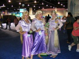 3 Rapunzels- D23 2011 by WickedLover010