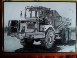 Volvo Dumper drawing by alainmi