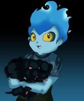 Little Hades and Cerberus by Kissthechihauhua1