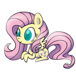 Chibi Fluttershy by Chocolate-Opals