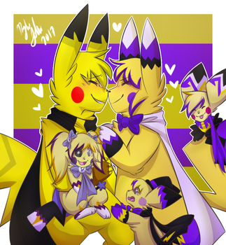 :CE: The Smol Fam by Dragonikku
