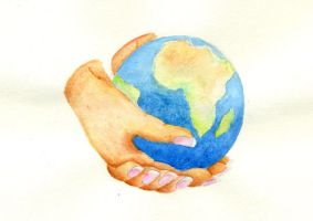 Hands - Our World by Coccis