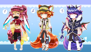 [CLOSED!] Chibi Batch 3 [AUCTION] by Riccasze