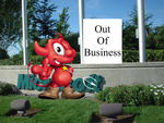 Beastie in front of Microsoft by sanguinemoon