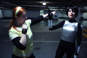 Karai and April O'Neil TMNT 2012 by Elita-01
