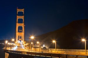 Golden Pre-Dawn Bridge - Free High Res Stock by somadjinn