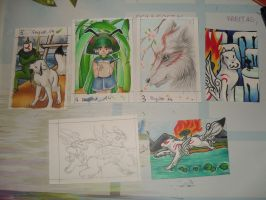Some Okami-Cards by Tausendschatten