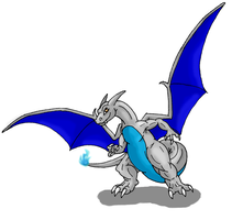 Dec. Special-Silver Charizard by Scatha-the-Worm