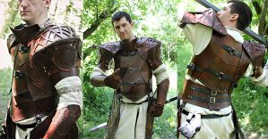 Cleric celtic leather armor by Feral-Workshop