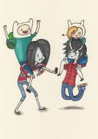 Adventure time Piggyback by Strawberry-lick