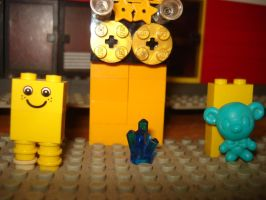 yellow robot and teady by adamspong2013