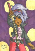 Alicia Sketch Card by ibroussardart