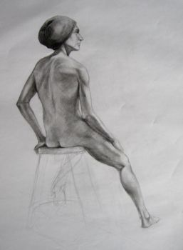 Figure Drawing - Eric by spiritwolf77