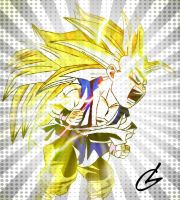 Super Saiyan 3 Kid Goku by just3inchesunder