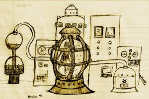 Sketch-21 (First Laboratory Concept) by BlueDraken