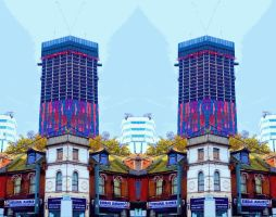 Croydon Towers Don't Open Fire Cutout Stereoscopy by aegiandyad