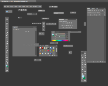 Pack PNG - Photoshop CC by KotoriKawaii750
