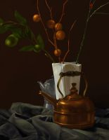 Digital Drawing Still Life 02 by spiritwolf77