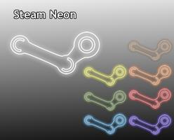 Steam Neon Icons by hackcypher