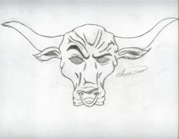 The Rock bull logo by PunkRoXanne
