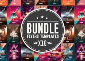 Psd Package 10 Minimal Flyer Templates  Bundle by RomeCreation