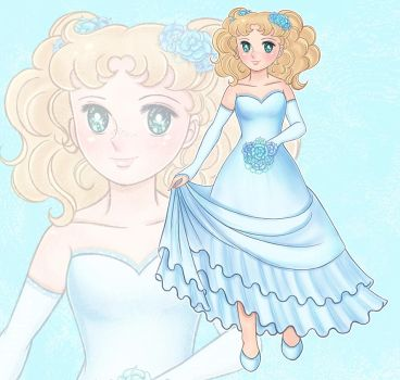 Candy blue dress by Duendepiecito