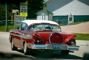 Cool red hotrod by MNgreen