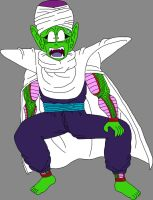 Barefoot Shocked Pure-Hearted Piccolo Jr. 2 by DragonBallFan2012