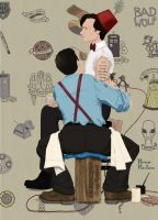 The Tattooist - Inspired by Norman Rockwell by breegeek