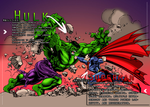Hulk vs Superman by AiOrT